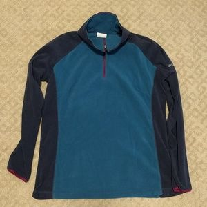Columbia lightweight fleece 1/4 zip jacket